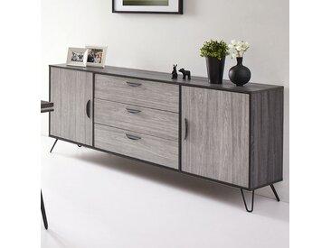 Buffet moderne couleur bois gris SANTORI