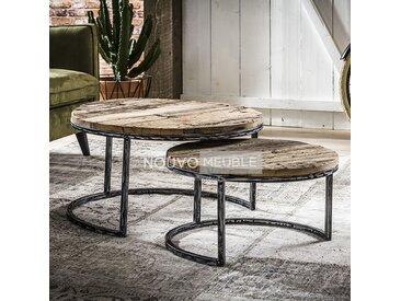 Table gigogne en bois et métal KENTUCKY