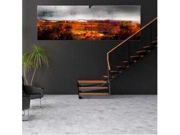 Grand tableau abstrait Crépuscule d'automne