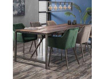 Table en bois et métal 240 cm industrielle JACOB