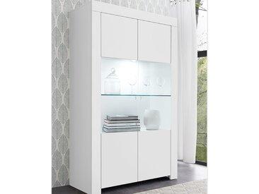 Vaisselier design blanc laqué ALANO