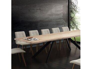 Table à manger extensible bois massif ILONA 200/300 x 110 cm