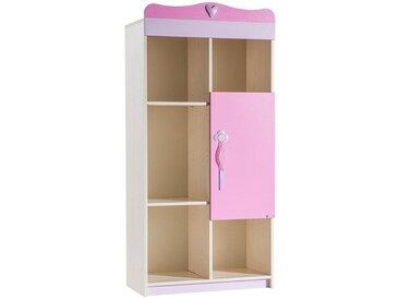 Bibliothèque enfant rose et blanche CAMILLE