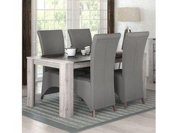 Table 180 cm moderne couleur chêne gris CAMELIA