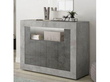 Petit bahut 110 cm moderne effet béton gris URBAN 7