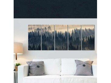 Tableau paysage forêt Fir in fog 200x80