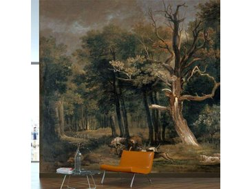 Tapisserie murale Chasse au loup en forêt