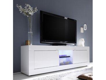 Meuble tv 180 cm blanc laqué design FOCIA 2