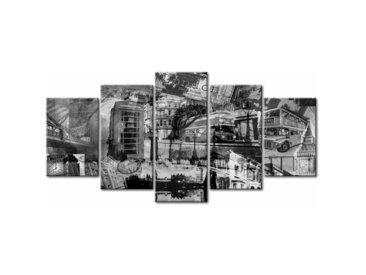 Tableau Londres noir et blanc 5 panneaux
