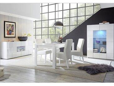 Salle à manger design blanc laqué SANDREA