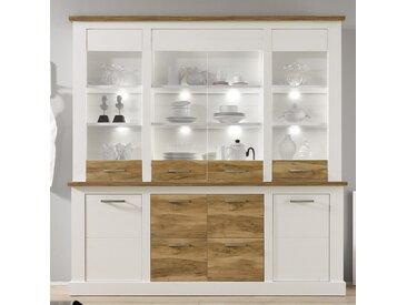 Vaisselier en bois et blanc moderne WOOD