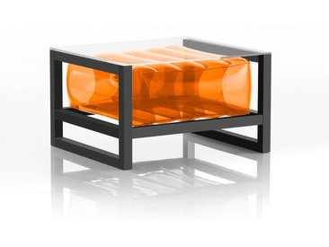 Table basse EKO en aluminium et TPU Crystal Orange