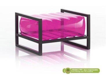 Pouf EKO en aluminium et TPU Crystal Pink