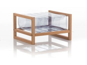 Pouf EKO en bois et TPU Transparent
