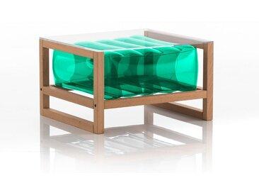 Table basse EKO en bois et TPU Crystal Green