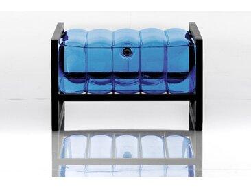 Pouf EKO en aluminium et TPU Crystal Blue