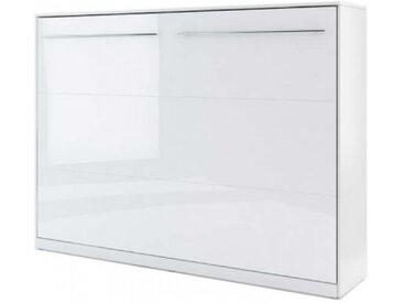 Lit escamotable blanc 140x200 CONCEPT - 140 x 200 cm - panneaux stratifiés - libolion.fr
