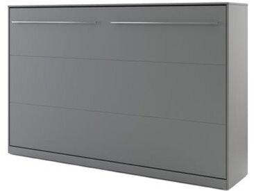 Lit escamotable blanc CONCEPT 120x200 - gris - 120 x 200 cm - panneaux stratifiés - libolion.fr