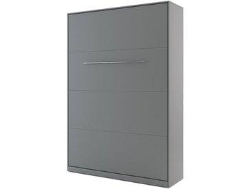 Lit escamotable CONCEPT 140x200cm blanc - gris - 140 x 200 cm - panneaux stratifiés - libolion.fr