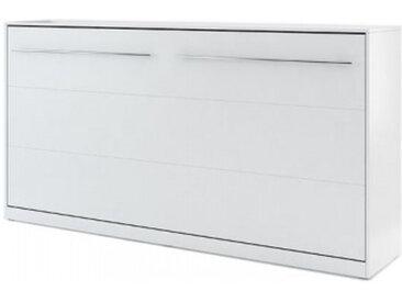 Lit escamotable 90x200 blanc CONCEPT - 90 x 200 cm - panneaux stratifiés - libolion.fr