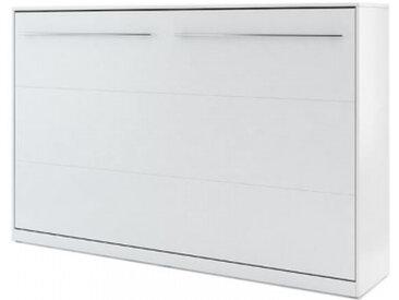 Lit escamotable blanc CONCEPT 120x200 - 120 x 200 cm - panneaux stratifiés - libolion.fr