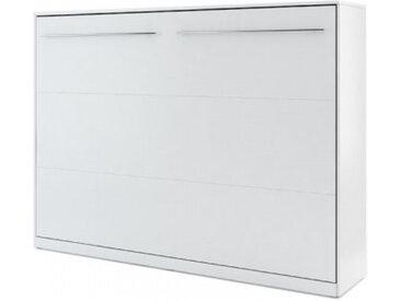 Lit escamotable blanc CONCEPT 140x200 - 140 x 200 cm - panneaux stratifiés - libolion.fr