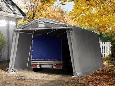 3,3x4,8m garage, abri, PVC 500 g/m², H. 1,95m, gris