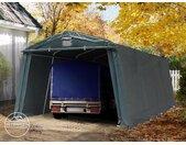 Abri garage 3,3x6,2 m, PVC 500, H. 1,95 m, vert foncé