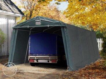 3,3x6,2m garage, abri, PVC 500 g/m², H. 1,95m, vert foncé