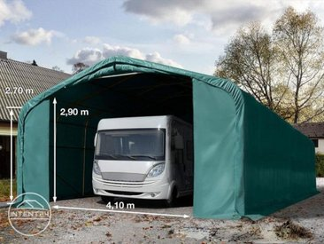 6x24m tente-garage de stockage, porte 4,1x2,9m, toile PVC de 720, anti-feu