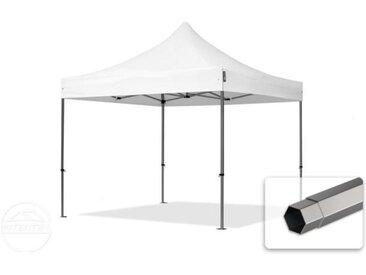 3x3 m Tente pliante - Acier, PVC 520g/m², anti-feu, blanc