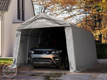 3,3x4,8m garage, abri, PVC 550 g/m², H. 2,1m, gris