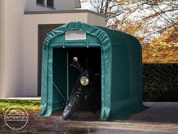 1,6x2,4m garage, abri, PVC 550 g/m², H. 1,7m, vert foncé
