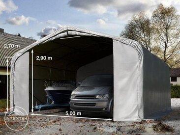 7x7m tente-garage de stockage, porte 5,0x2,9m, toile PVC de 550