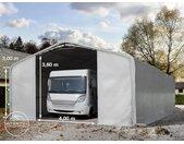 Tente-garage de stockage 8x12m, PVC 550, porte 4,0x3,6m
