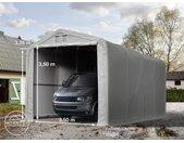 Tente-garage de stockage 4x8m, PVC 550, porte 3,5x3,5m