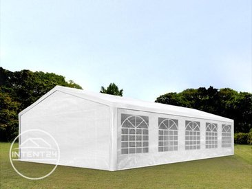 5x10 m tente de réception, PE 180 g/m², H. 2m, blanc