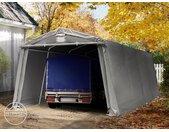 Abri garage 3,3x6,2 m, PVC 500, H. 1,95 m, gris