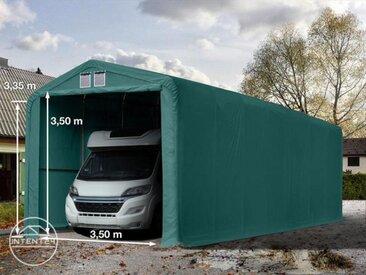 4x24m tente-garage de stockage, porte 3,5x3,5m, toile PVC de 720, anti-feu