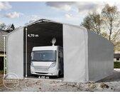 Tente-garage de stockage 8x12m, PVC 720, porte 4,0x4,7m, anti-feu