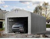 Tente-garage de stockage 5x8m, PVC 550, porte 4,1x2,5m