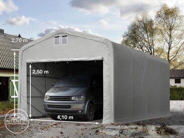 5x8m tente-garage de stockage, porte 4,1x2,5m, toile PVC de 550