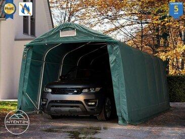 3,3x6,0m carport, garage - hauteur d'entrée 2,1m, PVC haute densité 720 g/m², vert foncé