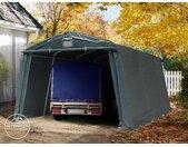 Abri garage 3,3x4,8 m, PVC 500, H. 1,95 m, vert foncé