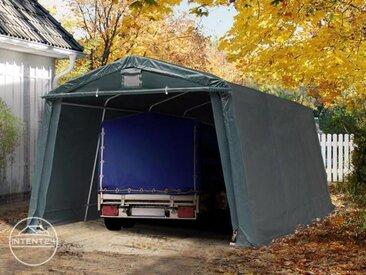 3,3x4,8m garage, abri, PVC 500 g/m², H. 1,95m, vert foncé