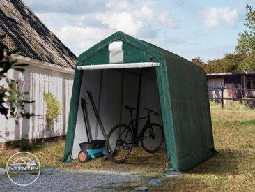 2,4x3,6m garage, abri, PE 260 g/m², H. 2m, vert foncé