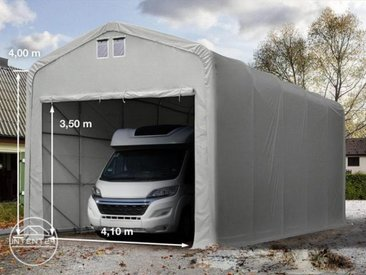 5x30m tente-garage de stockage, porte 4,1x3,5m, toile PVC de 720, anti-feu