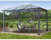 Tonnelle de jardin 3x4 m Sunset Deluxe, toit rigide