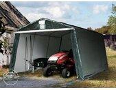 Abri garage 3,3x4,8 m, PE 260 g/m², H. 2 m, vert foncé
