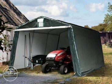 3,3x4,8m garage, abri, PE 260 g/m², H. 2m, vert foncé